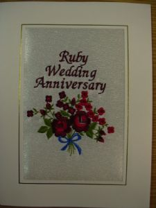 RUBY WEDDING ANNIVERSARY - Red Roses
